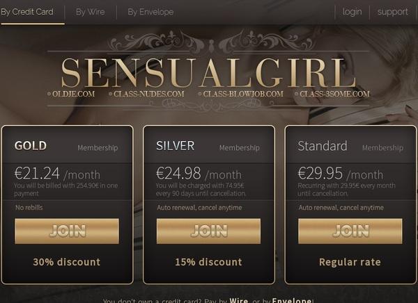 Sensualgirl.com Cuentas Gratis