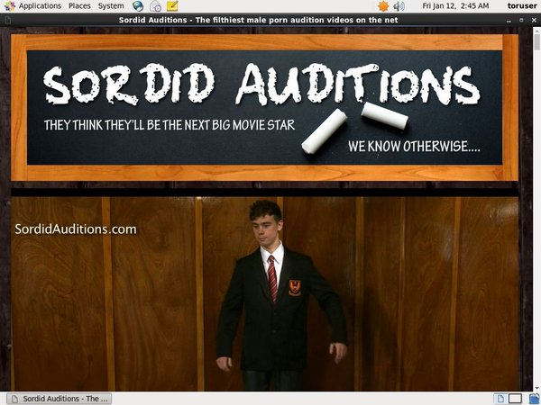 Sordid Auditions Id