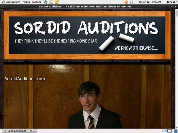 Sordid Auditions V2 Account