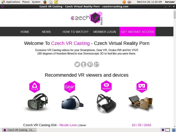 Free Czechvrcasting Movies