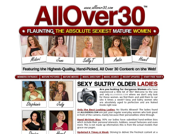 Sign Up For Allover30.com