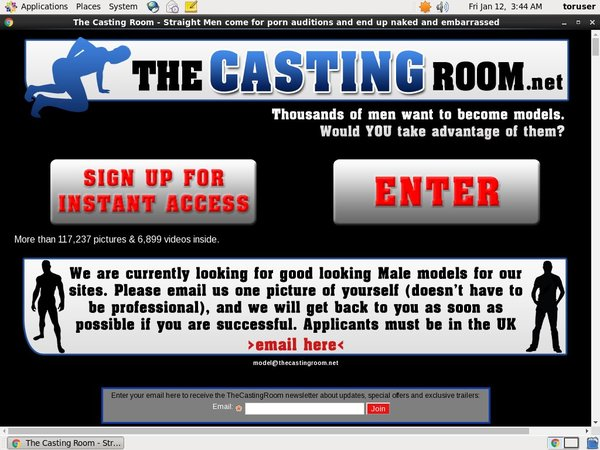 Thecastingroom.net Join By EU Debit